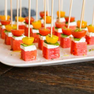 Watermelon-Feta Bites | Pamela Salzman