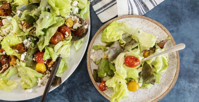 Roasted Cherry Tomato and Feta Salad Recipe