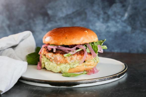 Wild Salmon Burgers | Pamela Salzman