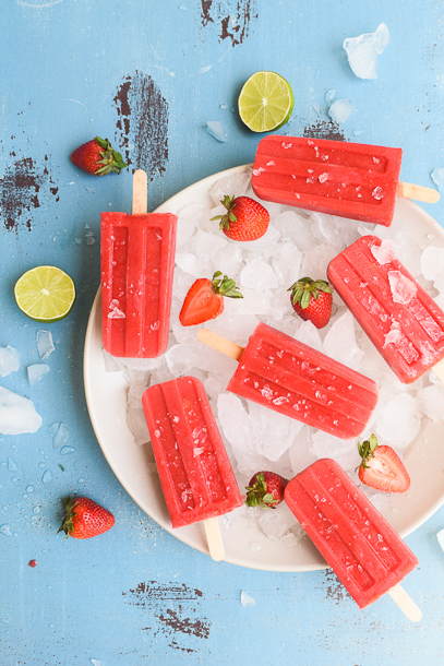 Strawberry Yerba Mate Popsicles | Pamela Salzman
