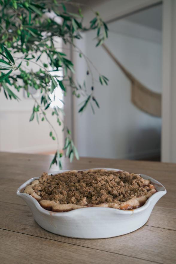 apple tart cherry pie with crumble topping recipe pamela salzman