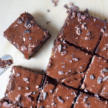 Fudgy Black Bean Brownies with Chocolate Ganache
