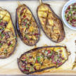Oven Baked Eggplant with Olives, Capers and Basil Recipe