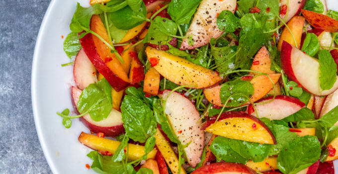 Peach Salad with Chili and Lime Recipe