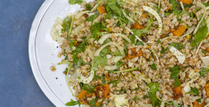 Farro Salad with Fennel and Roasted Butternut Squash Recipe