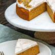 Grain-Free Pumpkin Cake with Cinnamon-Maple Cream Cheese Frosting and Candied Pumpkin Seeds Recipe