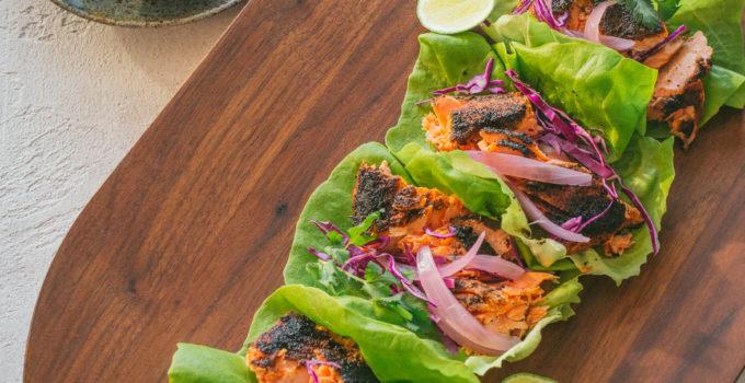 Blackened Wild Salmon Tacos Recipe