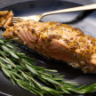 Grilled Cedar Plank Salmon With Lemon-Mustard Dressing Recipe
