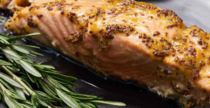 Grilled Cedar Plank Salmon With Lemon-Mustard Dressing Recipe