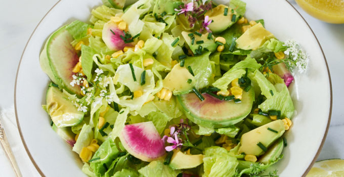 Market Salad with Avocado, Corn, Radishes and Lime Vinaigrette Recipe