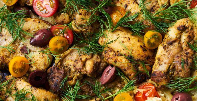 Mediterranean Skillet Chicken and Rice Recipe