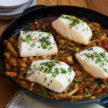Cod Acqua Pazza Recipe (vegan option, too!)