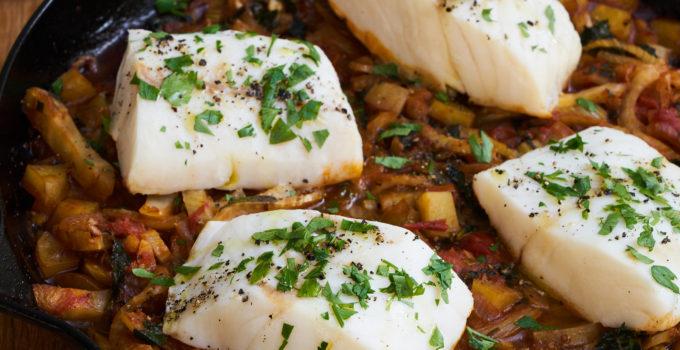 Cod Acqua Pazza Recipe (vegan option, too!)