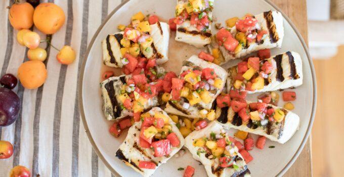 Grilled Halibut with Watermelon Pico de Gallo Recipe