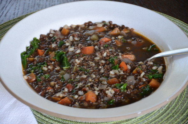 brown rice and lentil soup | pamela salzman