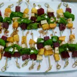 butternut squash, beet and apple skewers recipe