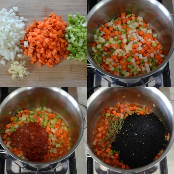 brown rice and lentil soup | pamela salzman