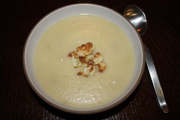 cauliflower and roasted garlic soup recipe | Pamela Salzman & Recipes