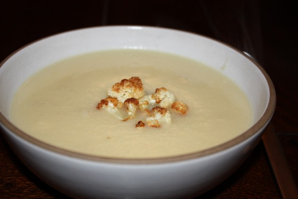 cauliflower and roasted garlic soup recipe | Pamela Salzman & Recipes
