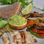 perfect chicken fajita plate
