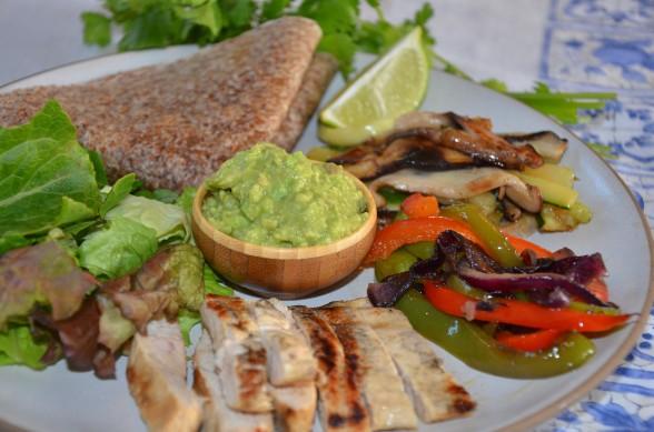 perfect chicken fajita plate