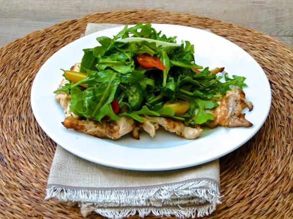 chicken paillard with arugula