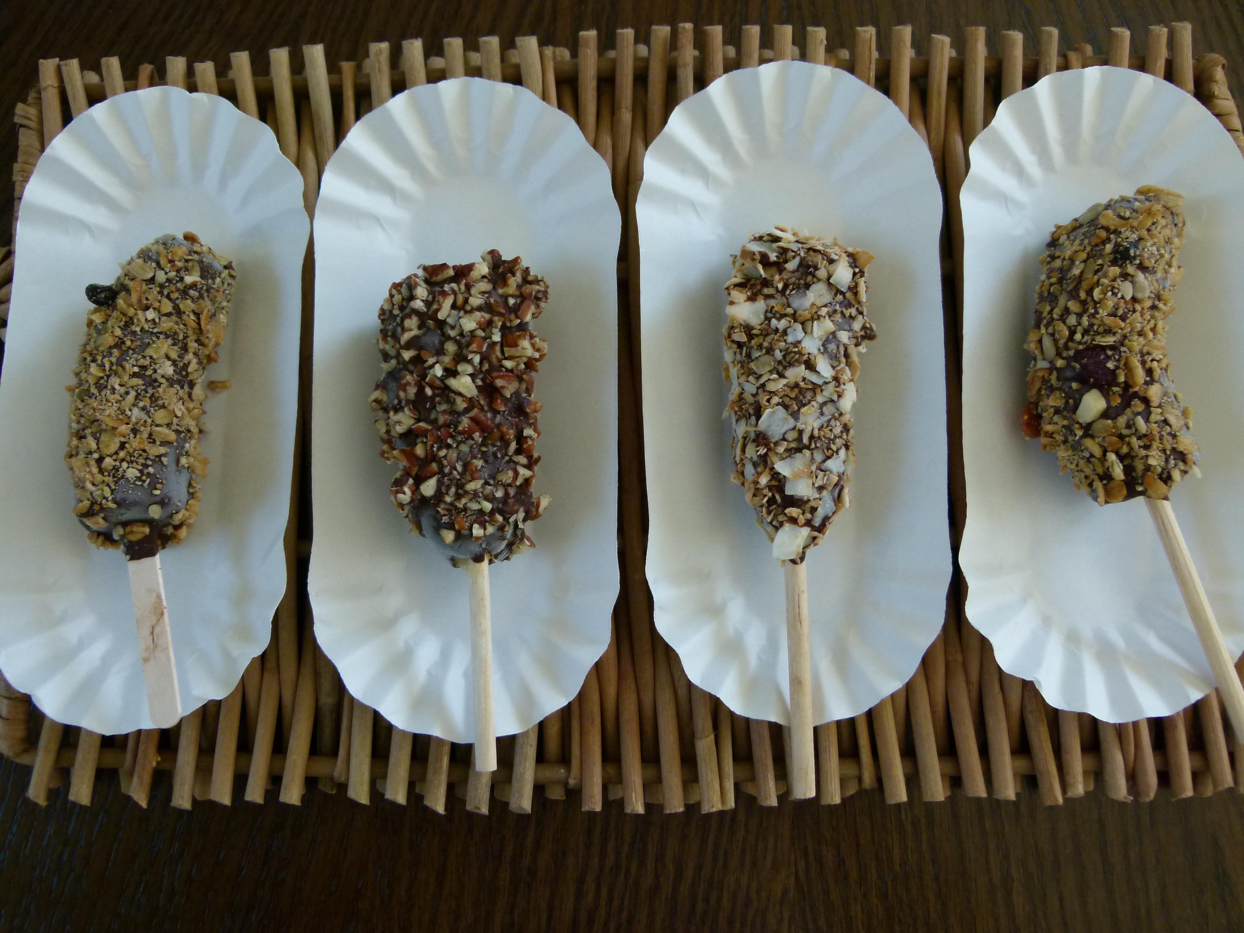 chocolate-covered frozen bananas | Pamela Salzman & Recipes
