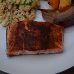 spice-rubbed wild salmon