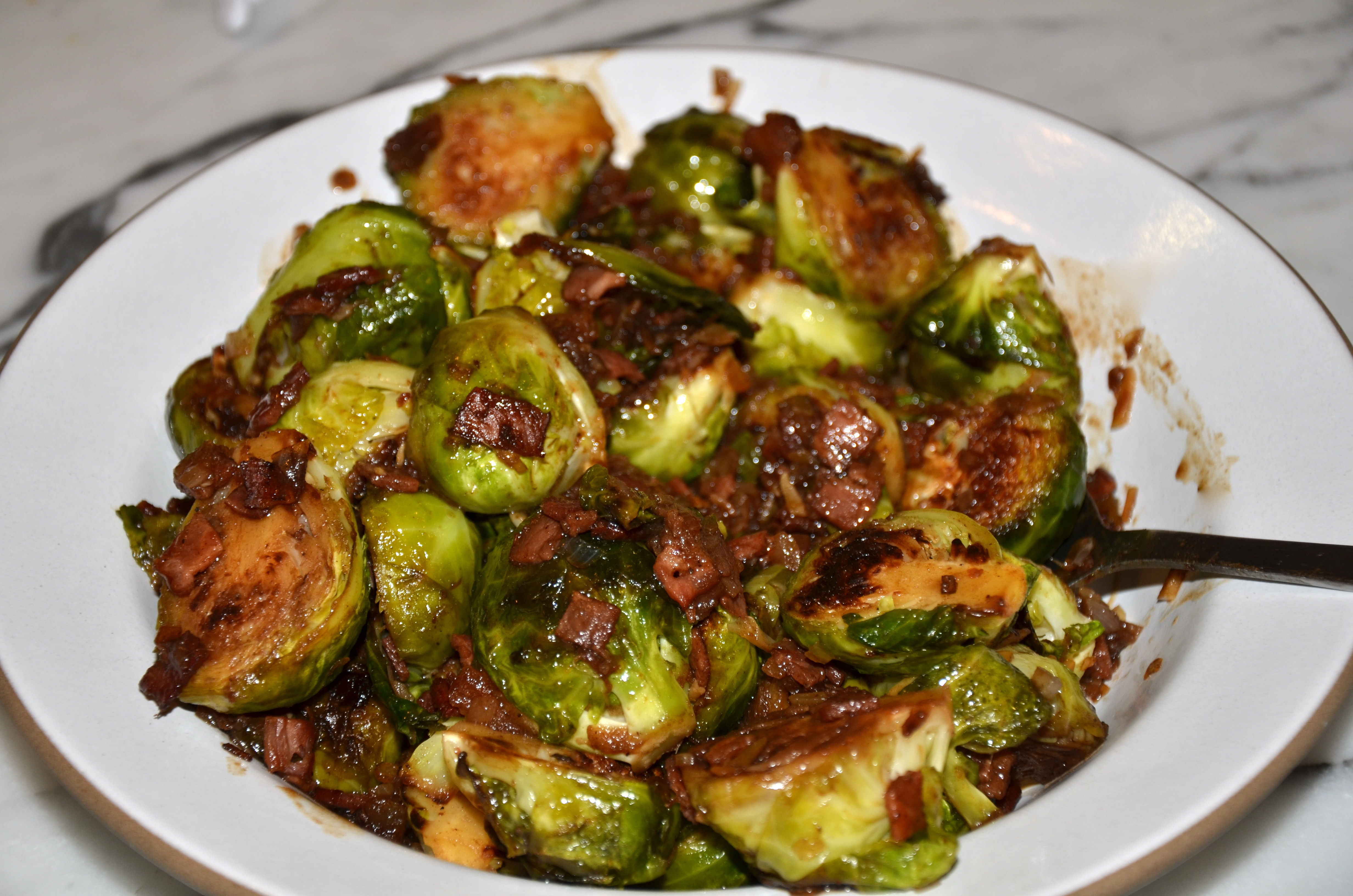 Brussels Sprouts with (Turkey) Bacon and Dates | Pamela Salzman ...