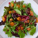 butternut squash salad with pomegranates and pumpkin seeds | pamela salzman