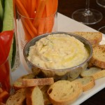 creamy white bean dip with roasted garlic