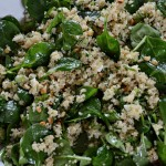 Spinach, Quinoa and Feta all tossed together