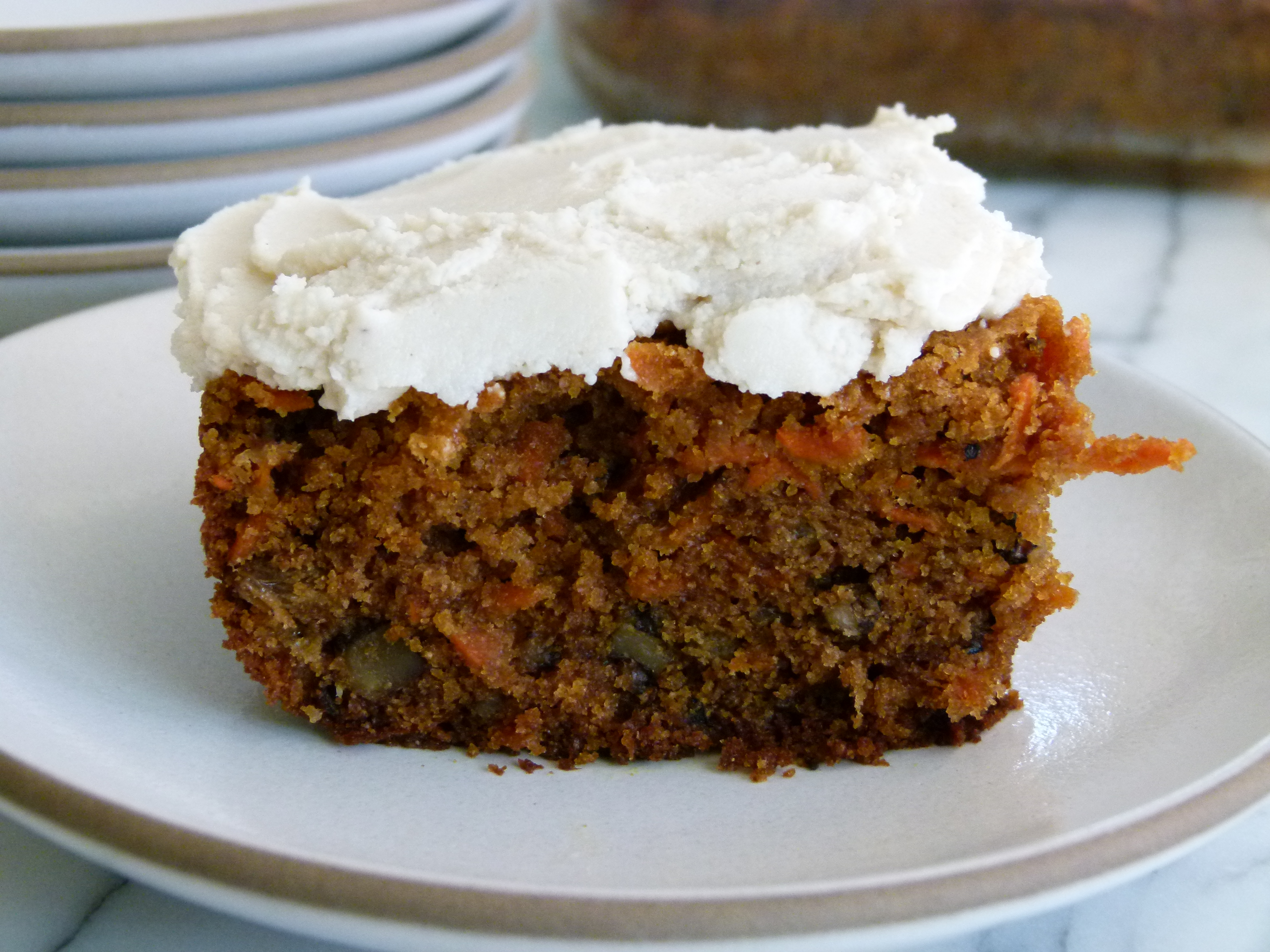 Whole Wheat Carrot Cake with Dairy-Free Frosting Recipe ...
