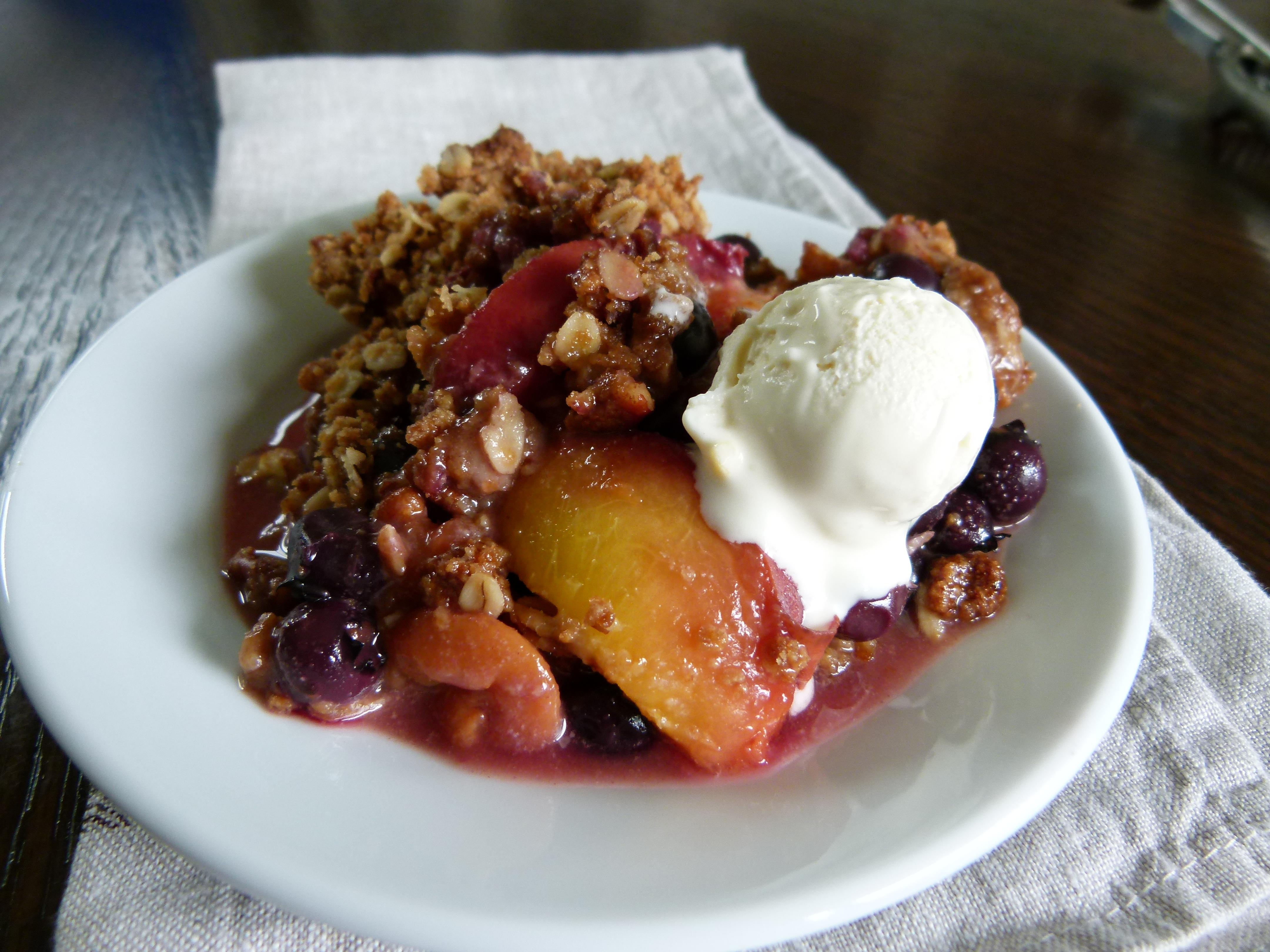 Peach and Blueberry Crisp Recipe | Pamela Salzman & Recipes
