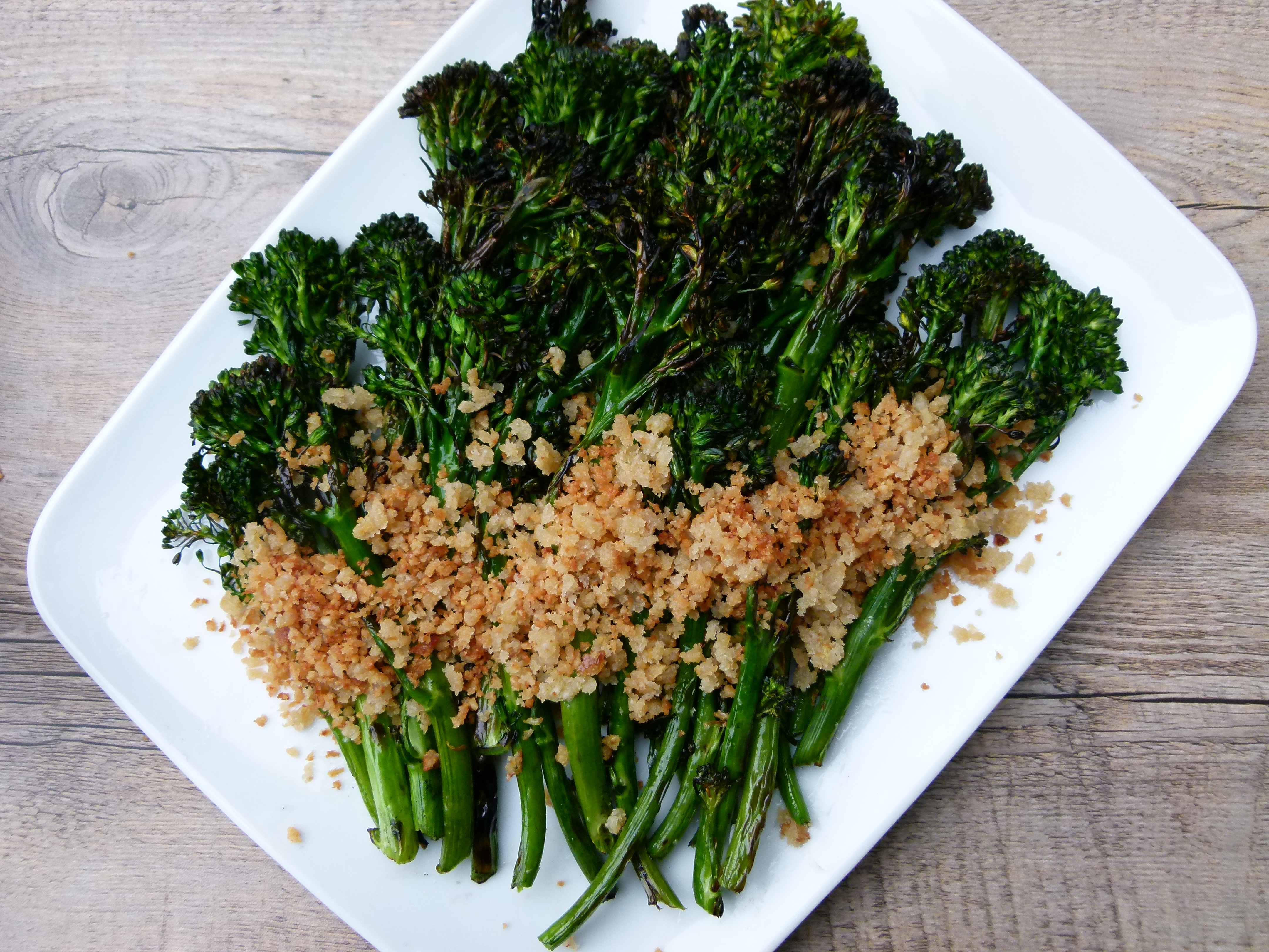 grilled broccolini with lemon-parmesan breadcrumbs recipe | Pamela ...