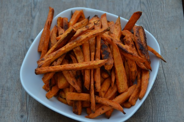 baked chipotle sweet potato fries recipe | Pamela Salzman ...
