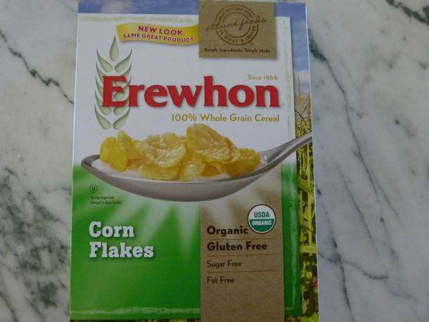 simple, no-sugar, organic corn flakes