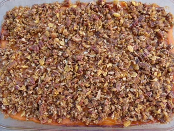 baked sweet potato casserole | pamela salzman