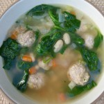 Italian Wedding Soup, hot and nourishing