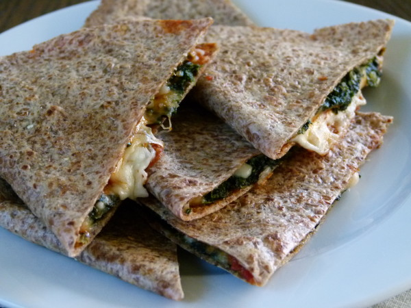 Spinach Pizza Quesadilla | Pamela Salzman
