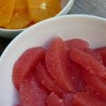 Juicy citrus segments and pinwheels