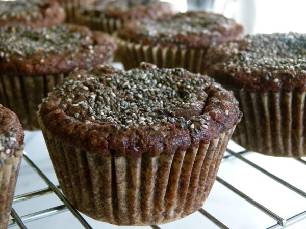 Chocolate Banana Chia Seed Muffins with Almond Flour | Pamela Salzman