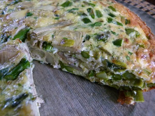 Asparagus and Artichoke Frittata via Pamela Salzman