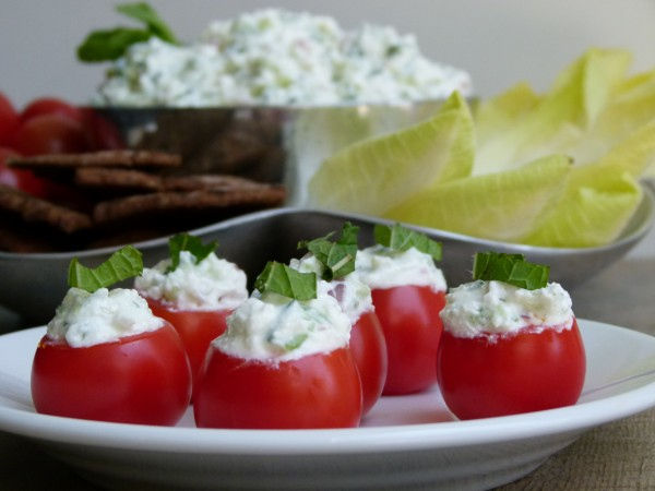 Feta Cucumber in cherry tomatoes | Pamela Salzman