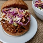 Slow Cooker Barbecued Pulled Chicken by Pamela Salzman