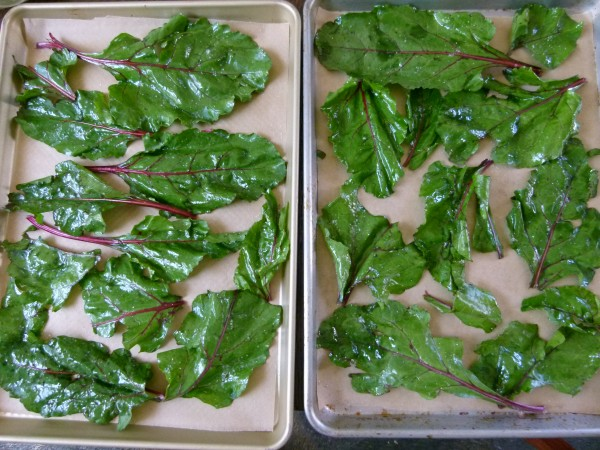 beet greens before cooking