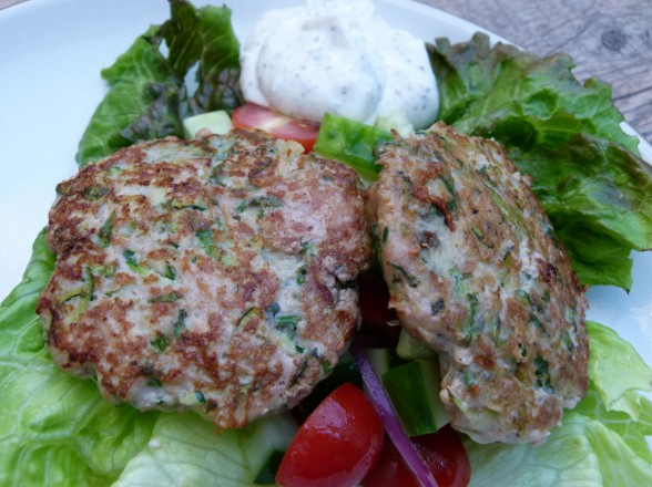mediterranean turkey and zucchini burgers recipe | Pamela Salzman ...