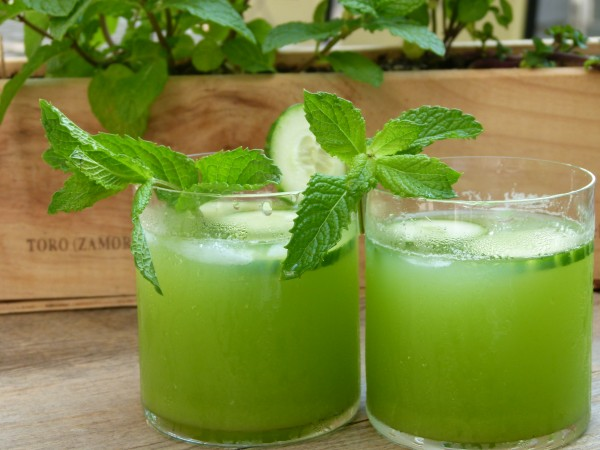 mint, cucumber, and vodka cocktail | pamela salzman