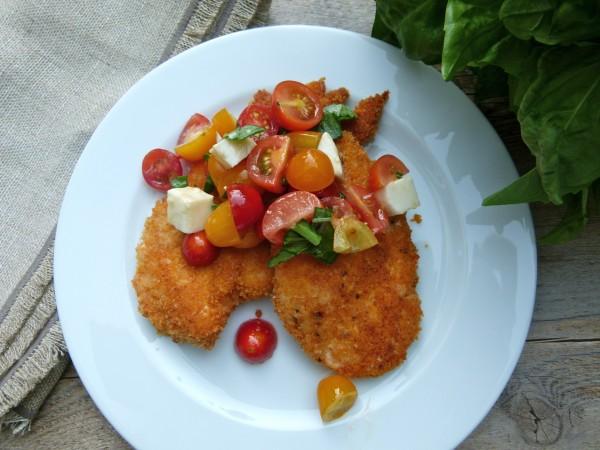 baked parmesan chicken caprese | pamela salzman