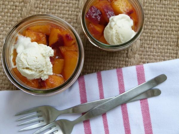 warm individual peach pie pots | pamela salzman